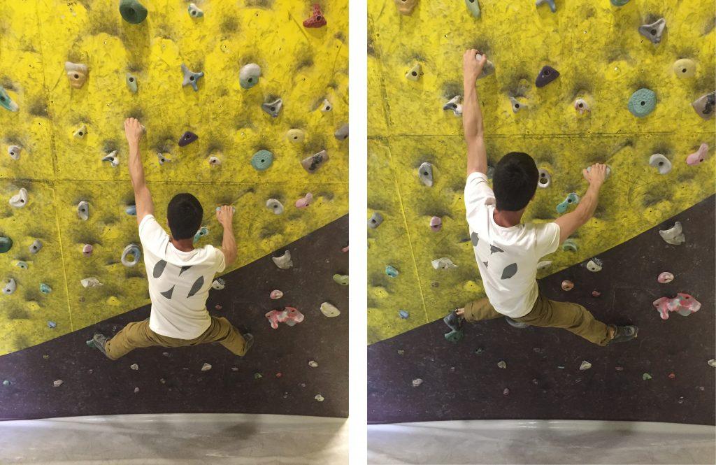 Ejemplo:Situar el cuerpo más de frente o más de lado, situar el peso (cadera) encima de los pies o debajo de los brazos.