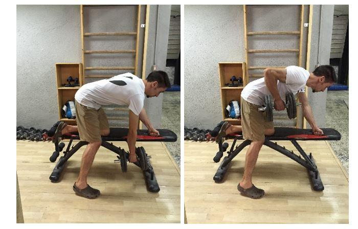 Remo a un brazo con mancuerna (ejercicio de desarrollo del dorsal ancho)